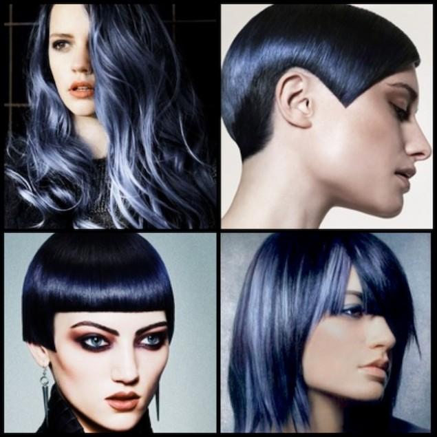 Mavi-siyah saçlar