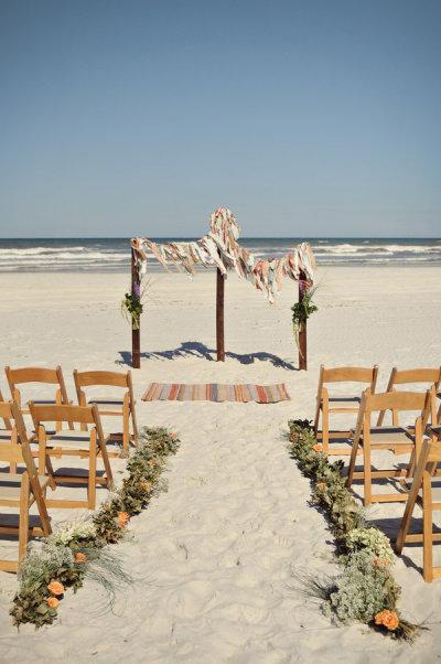Kumsalda düğün konsepti