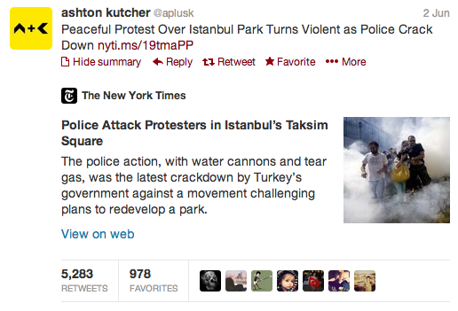 ashton kutcher occupygezi