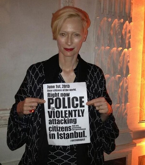 tilda swinton occupygezi